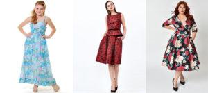 Floral Vintage Graduation Dresses For Girls Size S TS6075