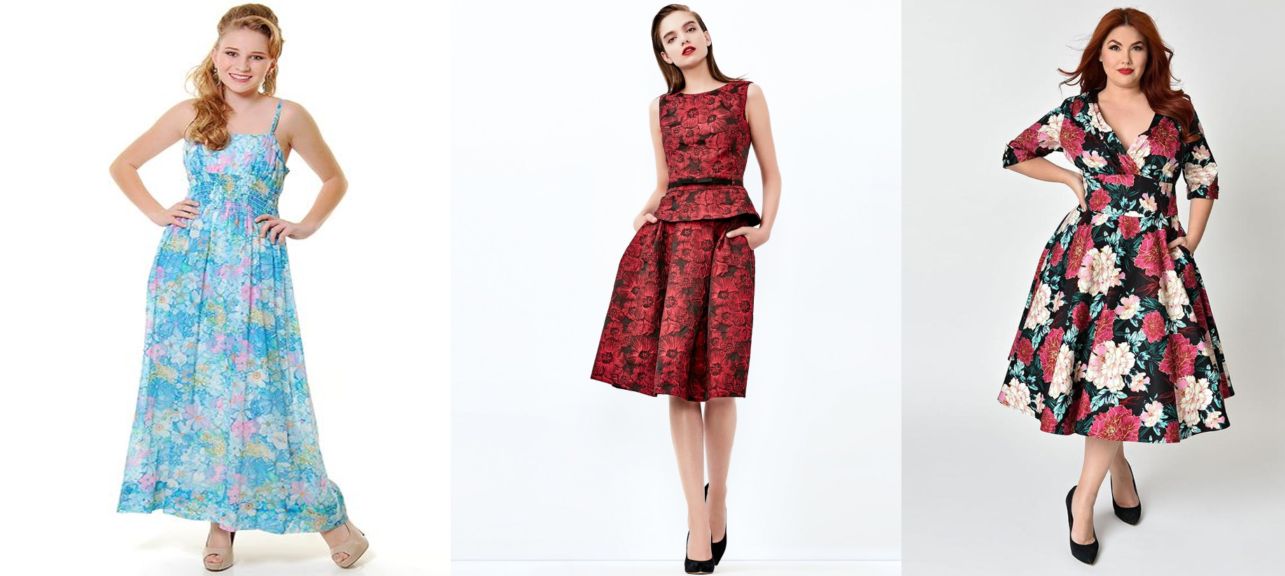 Floral Vintage Graduation Dresses For Girls Size S TS6075